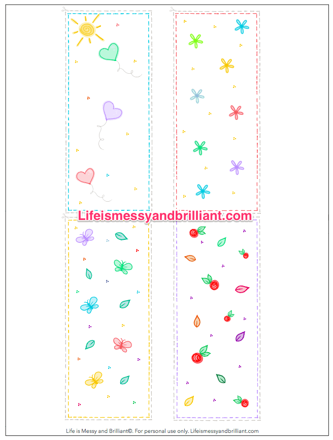Bookmark Printable Free Bullet Journal Printables