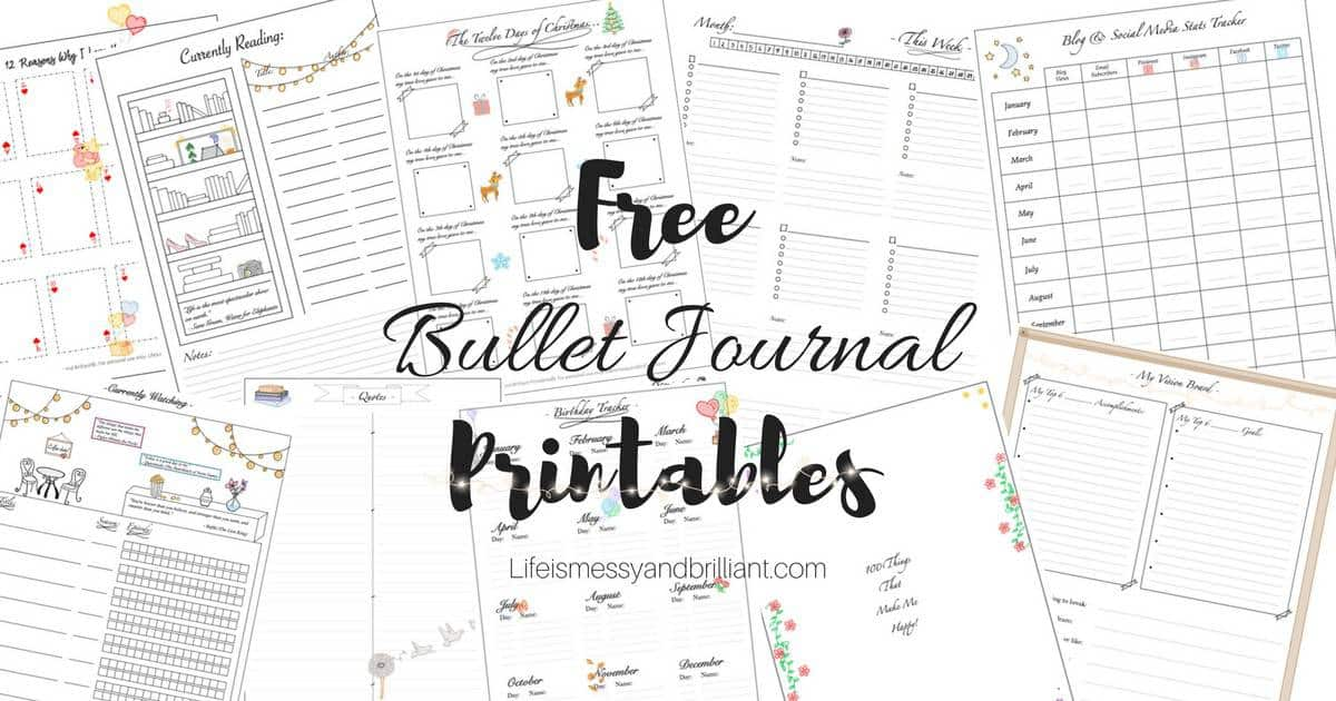 It's just a graphic of Adaptable Free Bullet Journal Printables 2020 Pdf