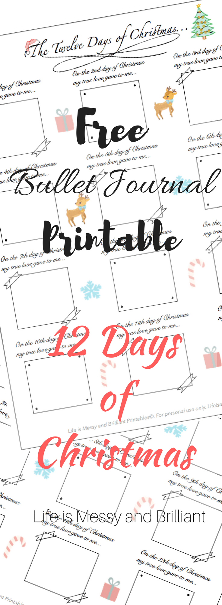 photo regarding 12 Days of Christmas Printable Templates identify Blog site Lifestyle is Messy and Amazing