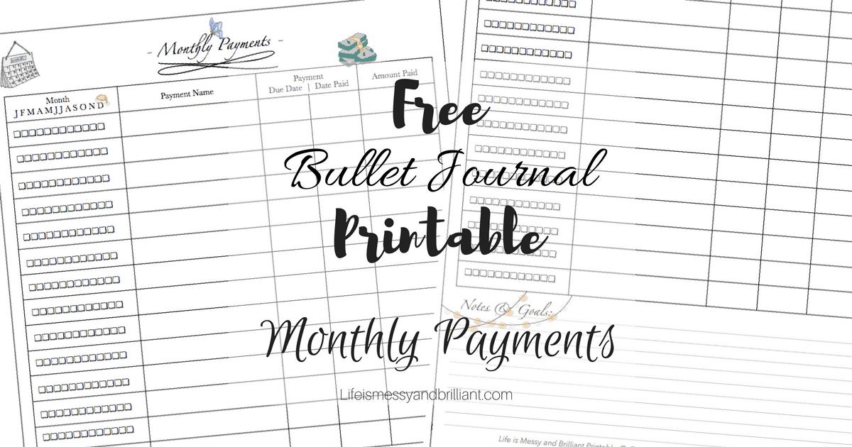 monthly money tracker