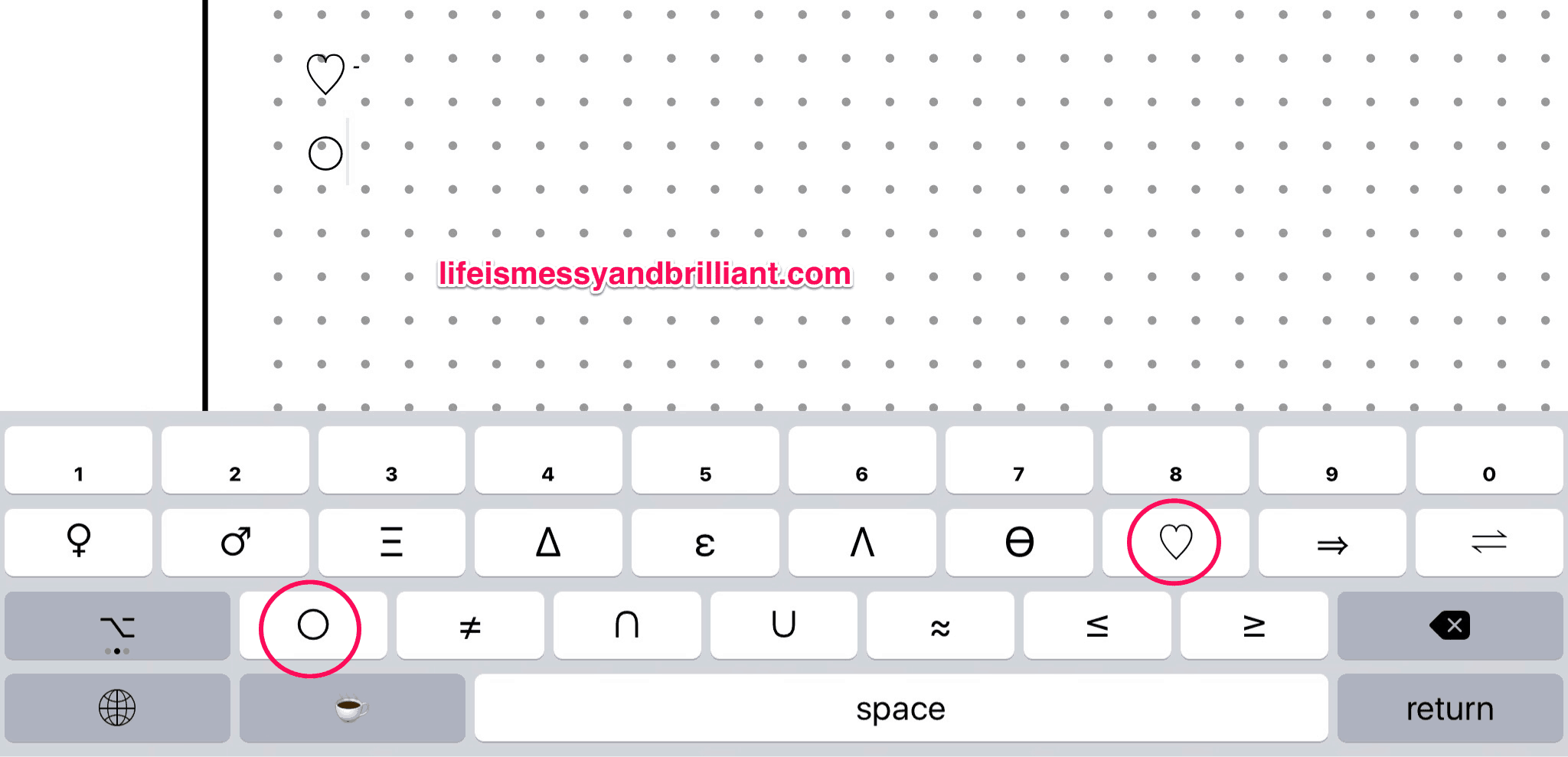 How to create planner printables on the ipad using pages use the app scikey to add as many symbols as you want use them as cool bullet points i love this app you can customize the keyboard app to suit your biocorpaavc Choice Image