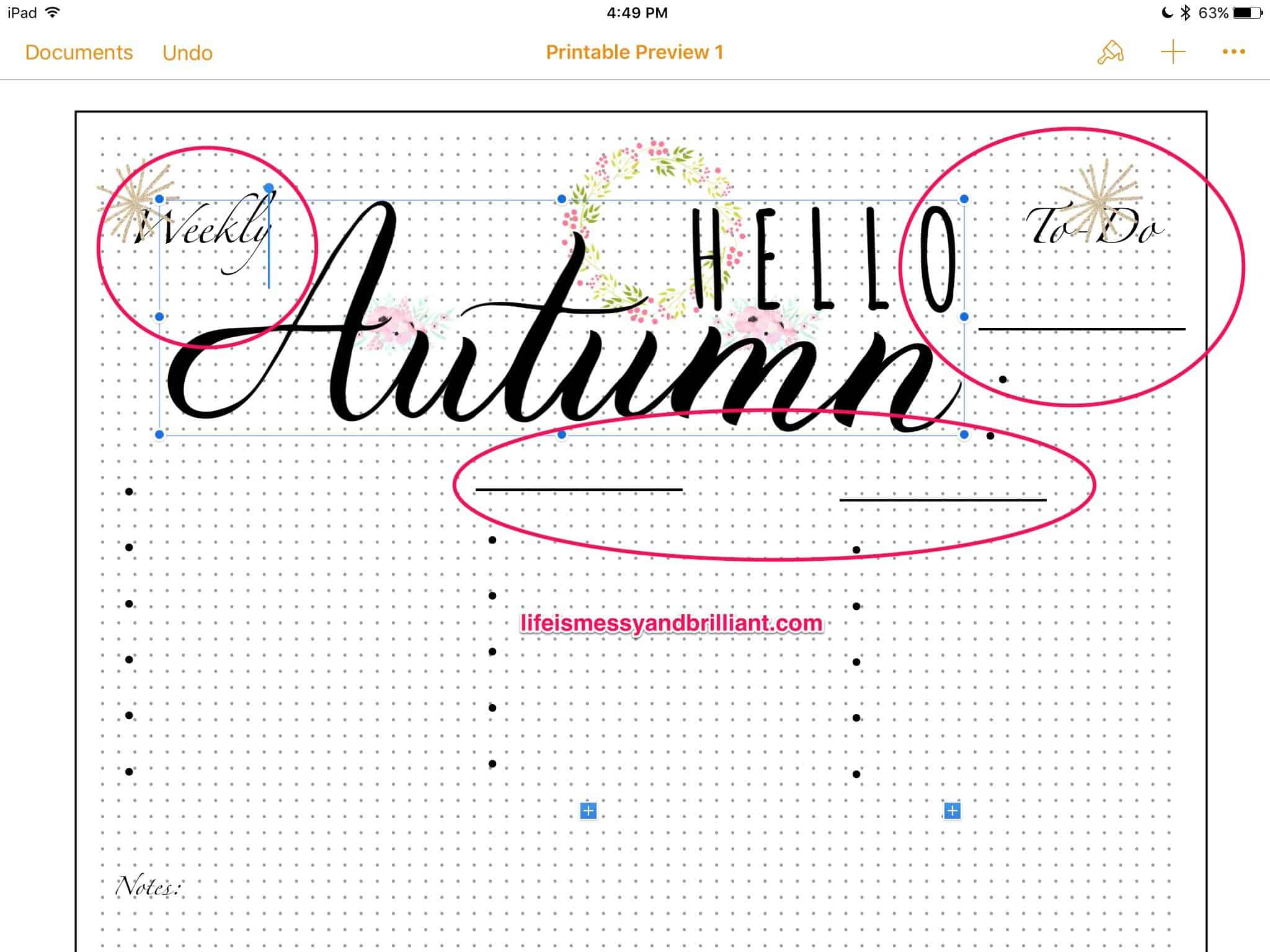 How to Create Planner Printables on the iPad Using Pages