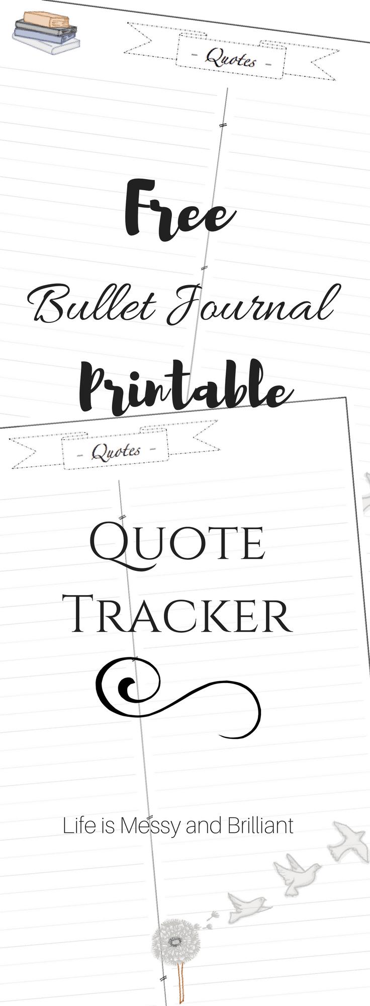 bullet journal printables pdf free