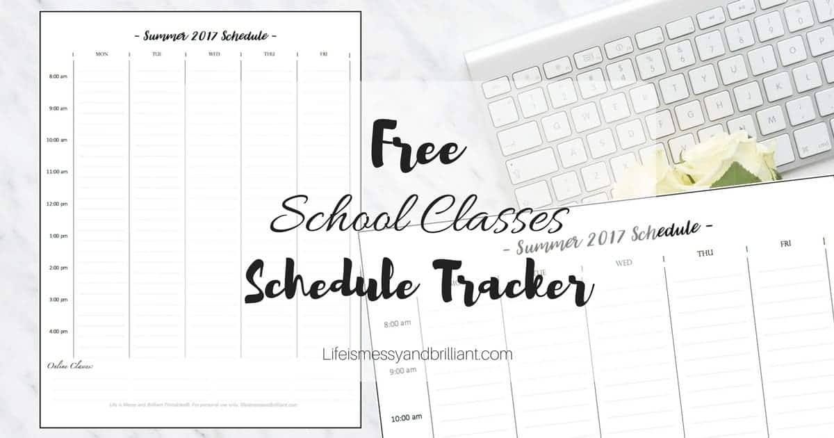 photo regarding Printable School Schedule called Absolutely free Faculty Cles Timetable Tracker