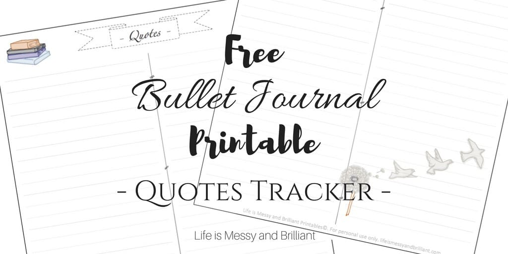 photograph relating to Free Quote Printable titled No cost Bullet Magazine Rates Tracker Printable