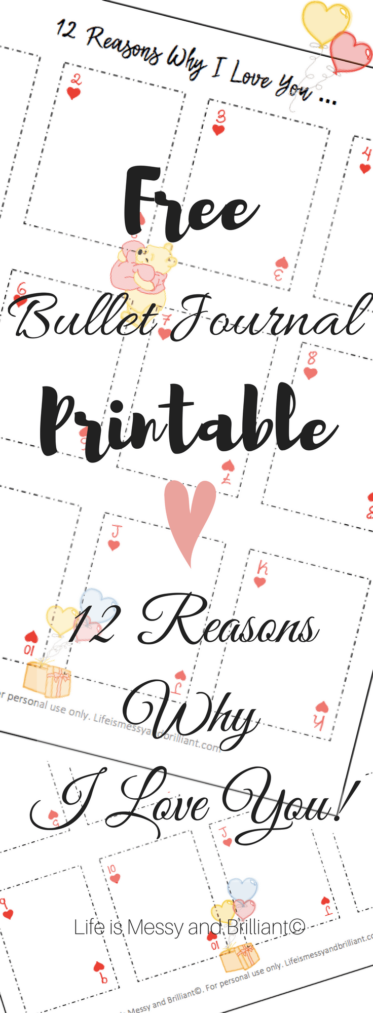 Reasons Why Makeup Is Important: FREE 12 Reasons Why I Love You Bullet Journal Printable