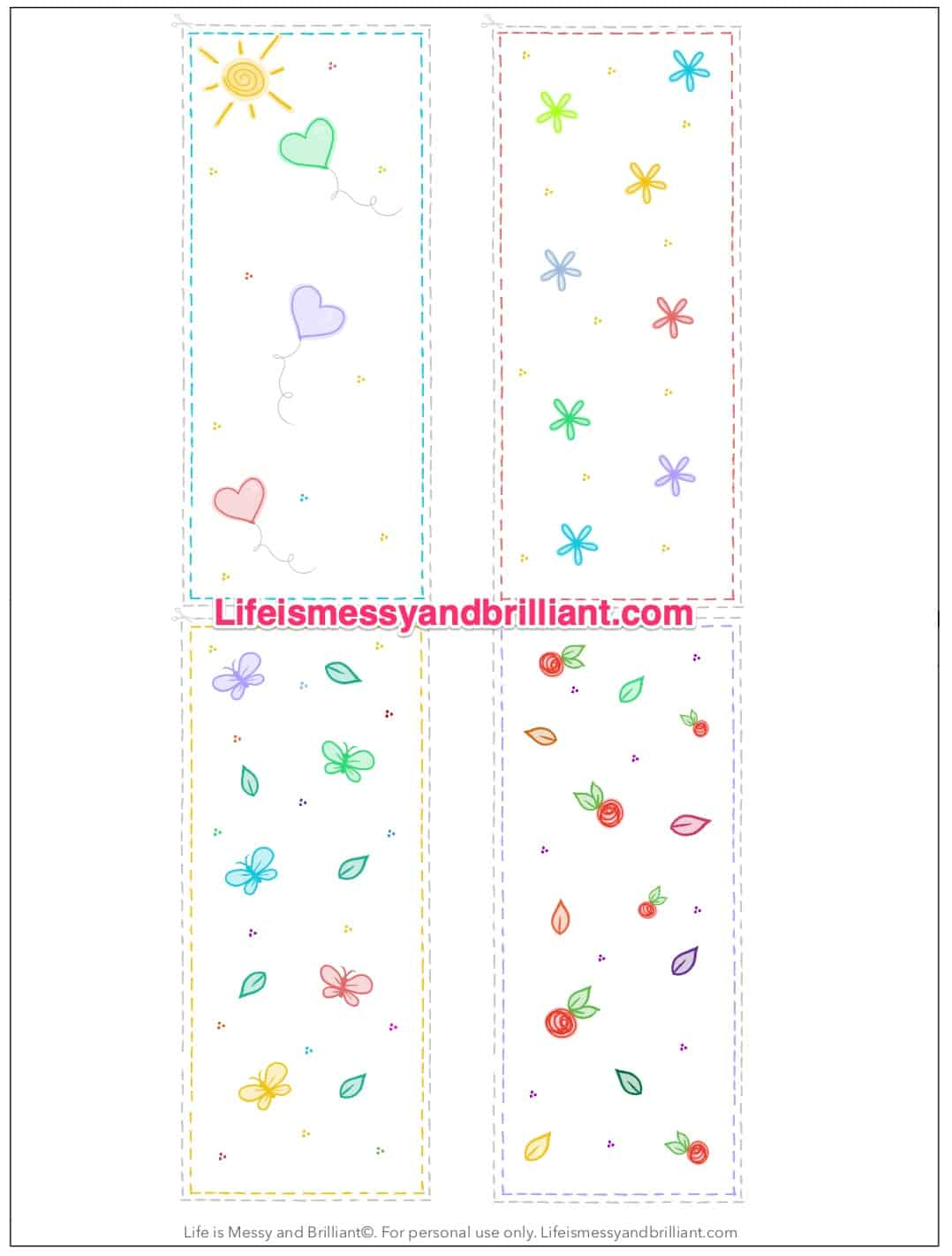 photo about Printable Bookmark called Totally free Bullet Magazine Bookmark Printable