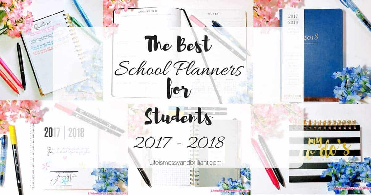 the best school planners for students 2017