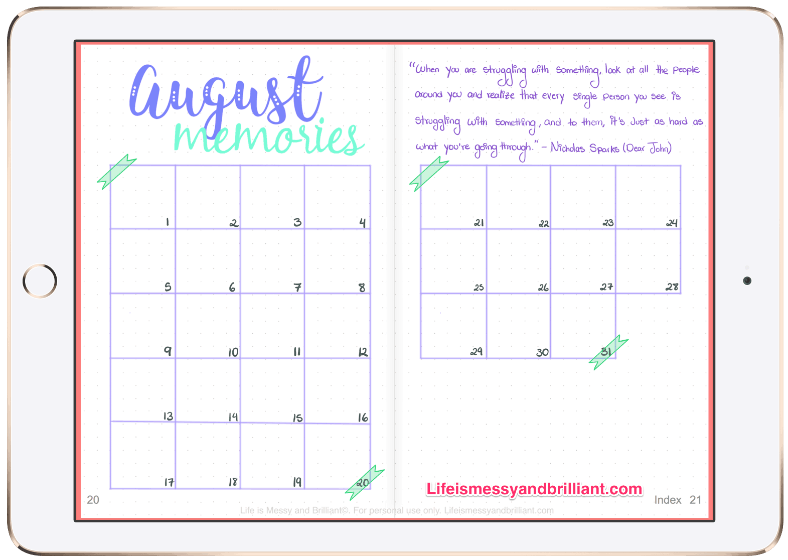 Digital Bullet Journal Planner2 2