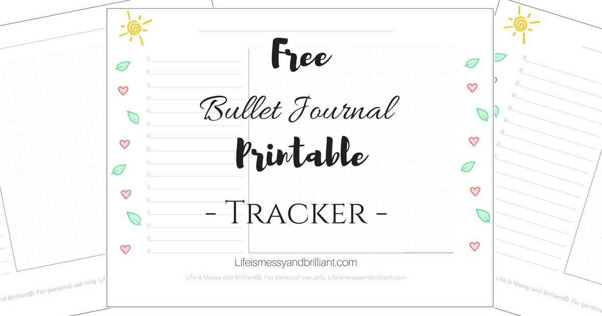 image relating to Sleep Tracker Printable named Totally free Bullet Magazine Tracker Printable