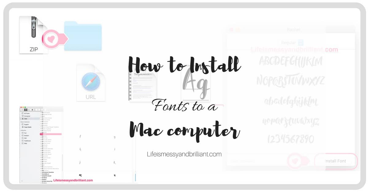 how to install fonts on a mac computer