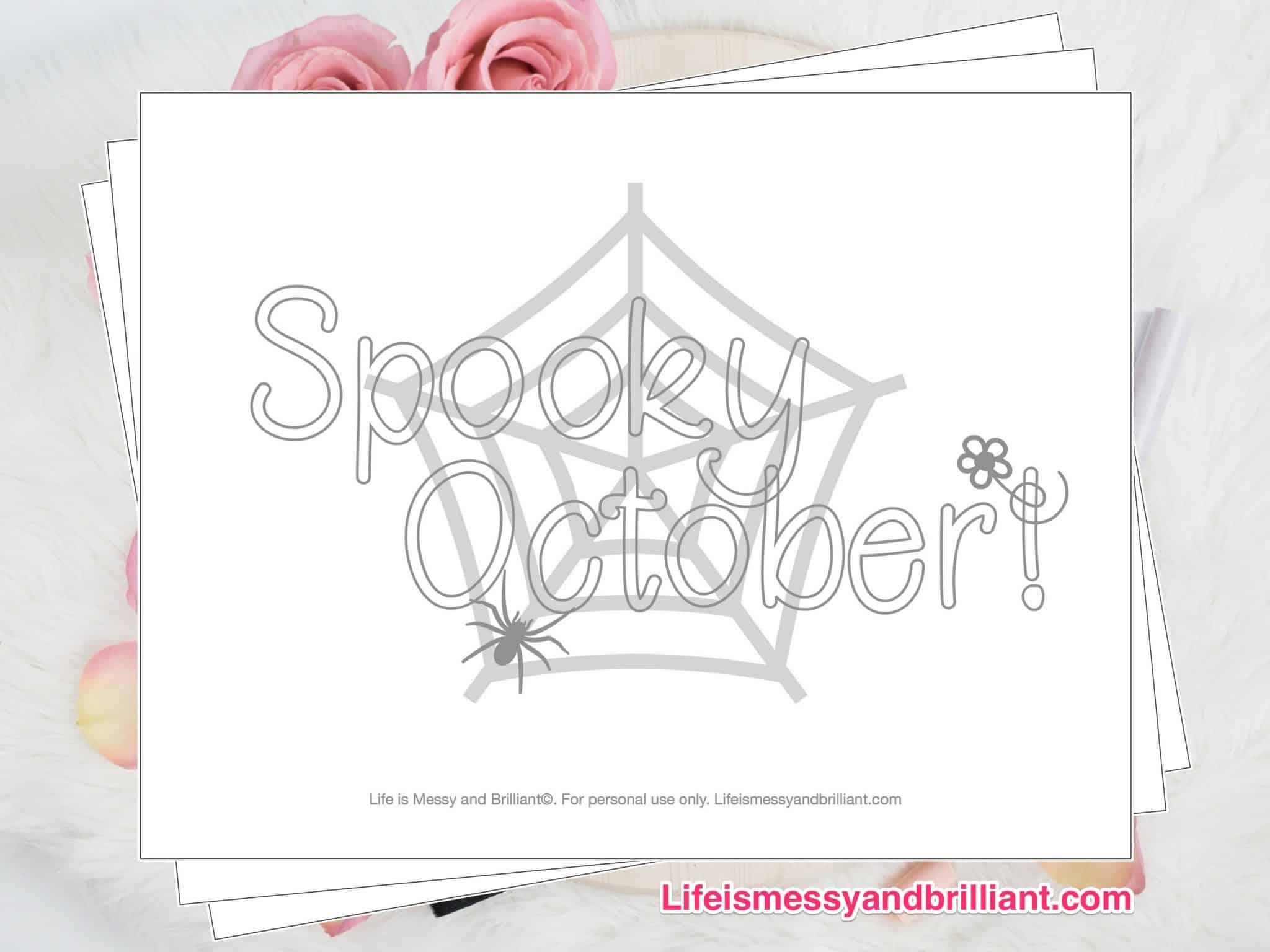 FREE October Coloring Page Printable