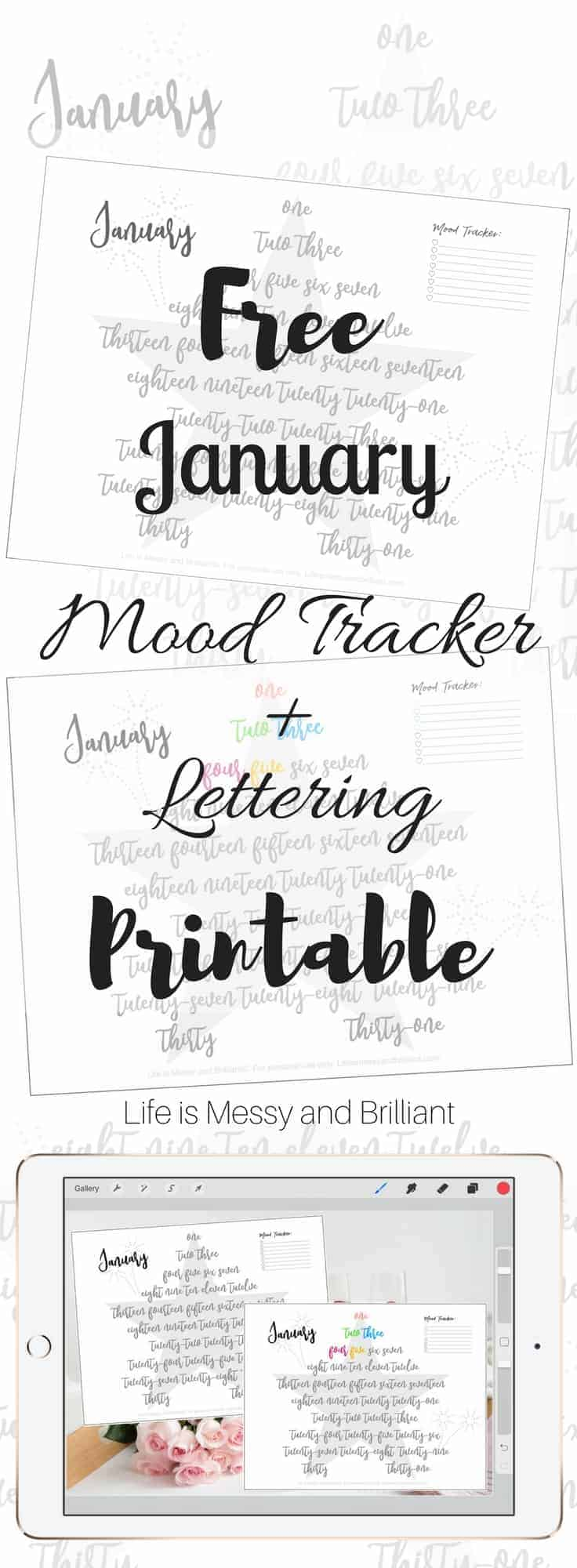 It is a graphic of Clever Free Mood Tracker Printable