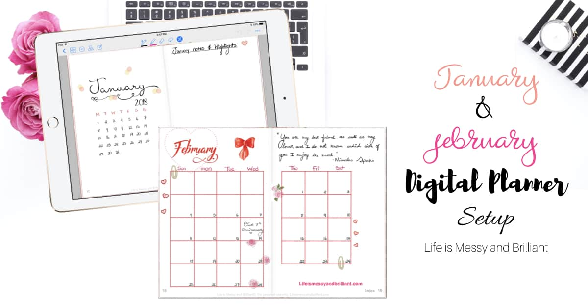 my digital planner layouts