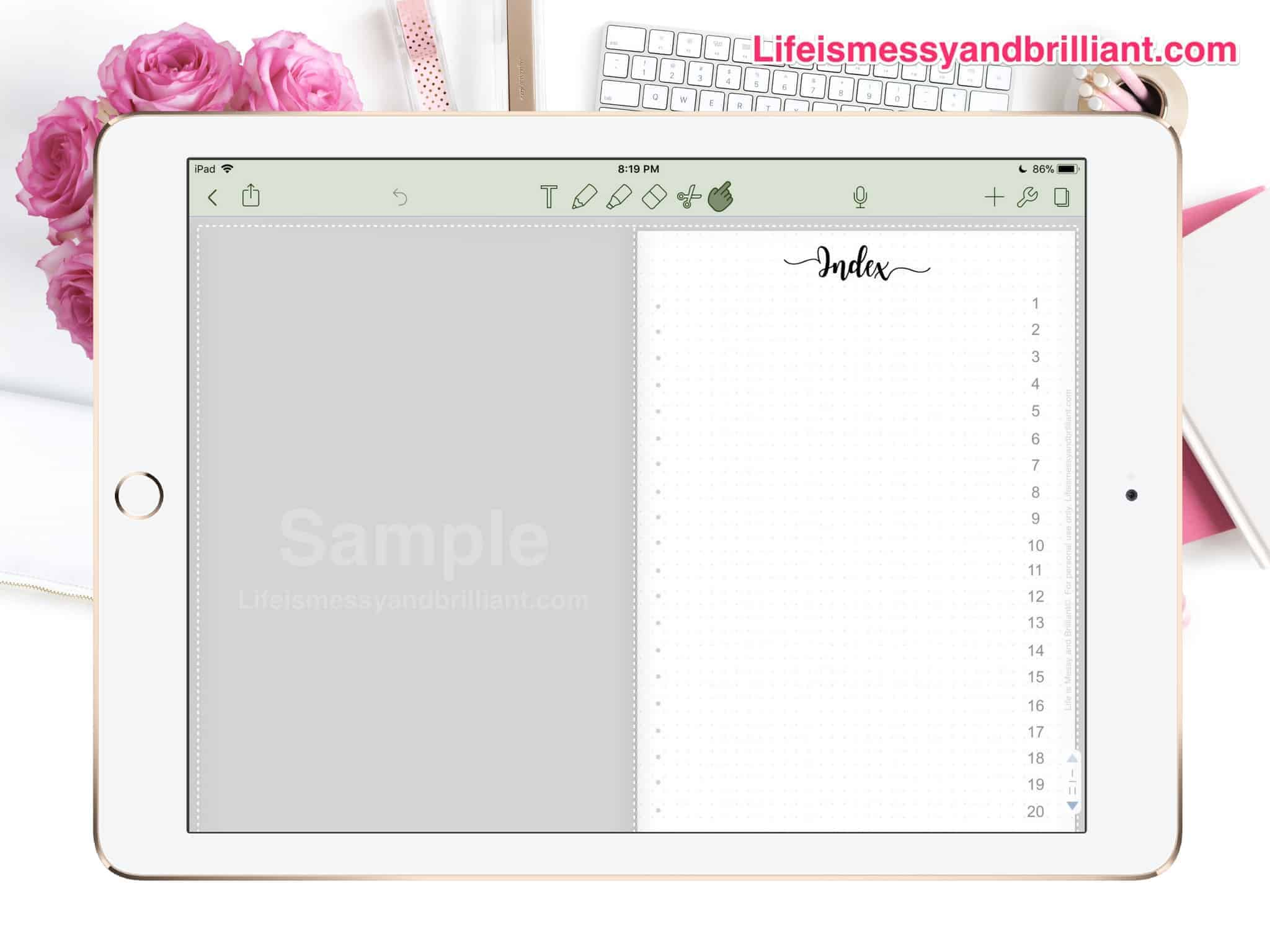 free digital planner with hyperlinks