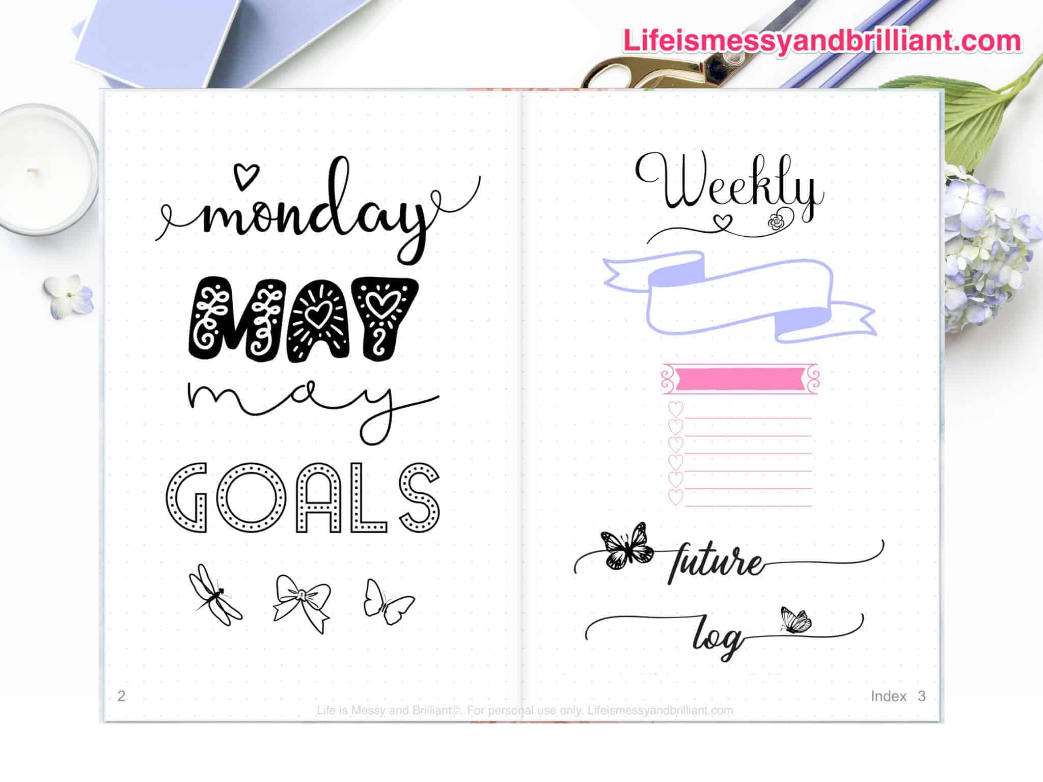 Digital planner stickers bullet journal stickers digital planner goodnotes