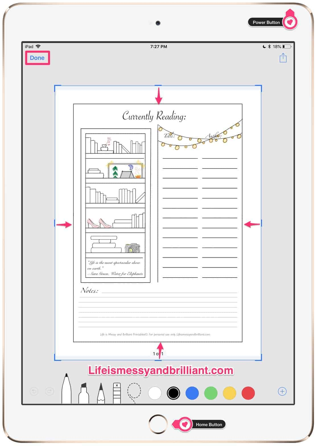 How to Decorate a Digital Planner in GoodNotes