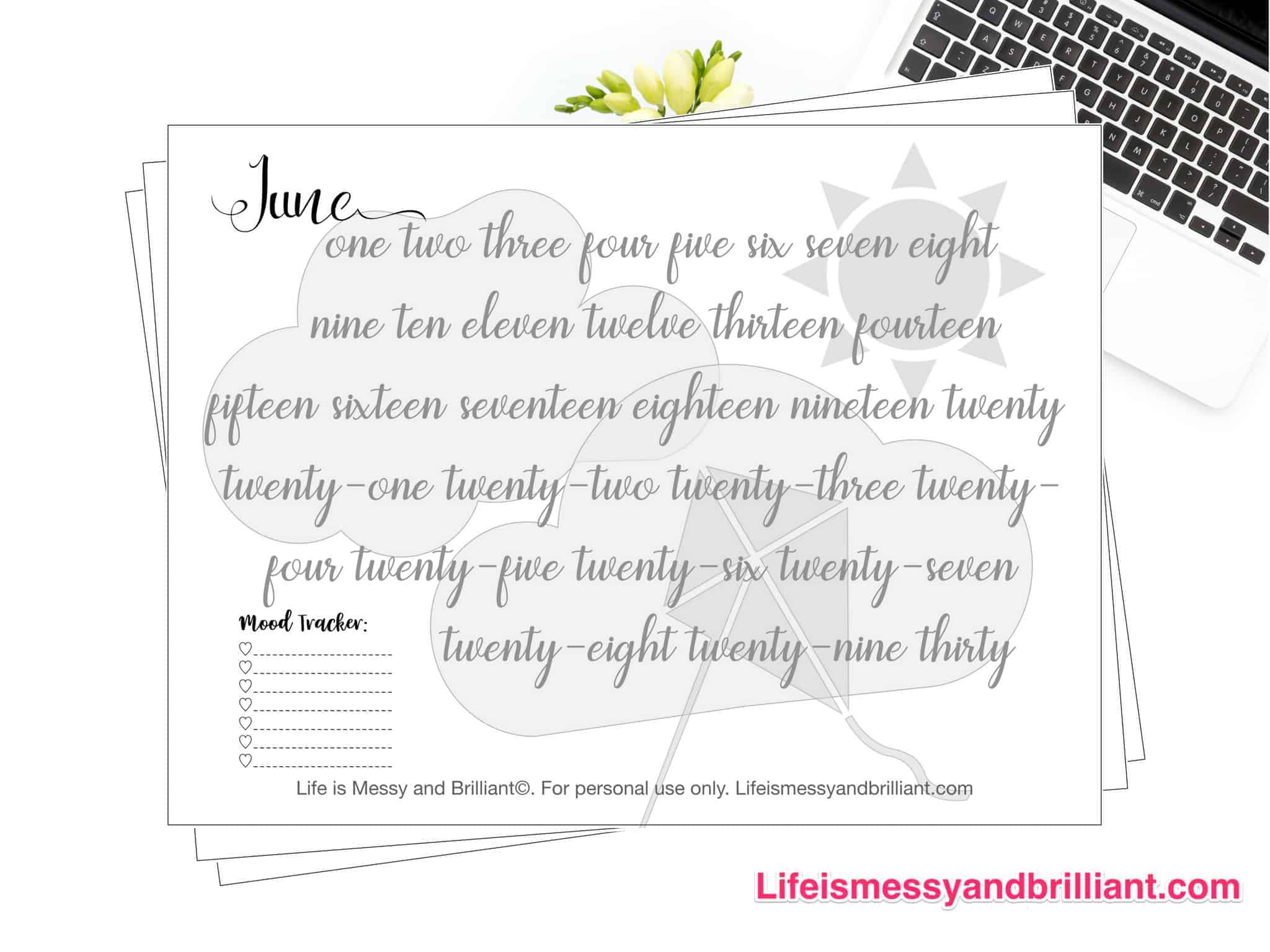 photo relating to Mood Tracker Printable identify Totally free Bullet Magazine Temper Tracker Printables