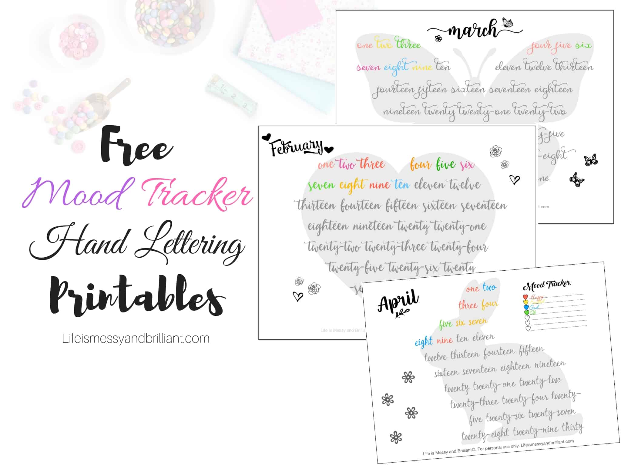 photo about Printable Mood Tracker known as Totally free Bullet Magazine Temper Tracker Printables