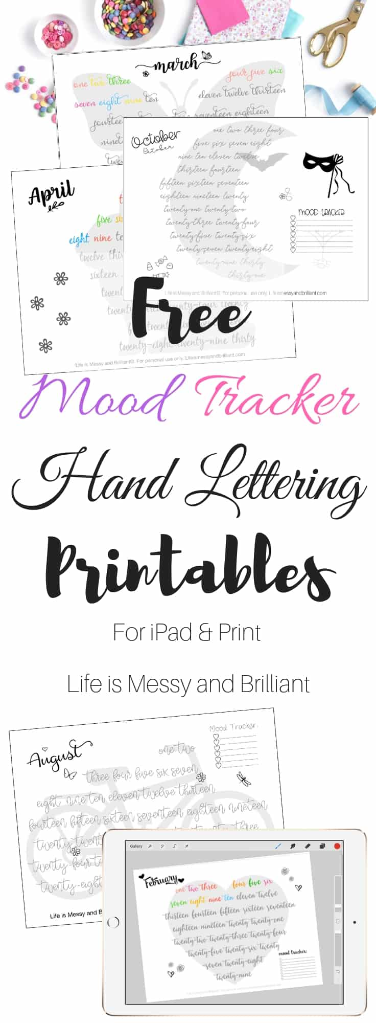 graphic regarding Free Mood Tracker Printable known as Free of charge Bullet Magazine Temper Tracker Printables