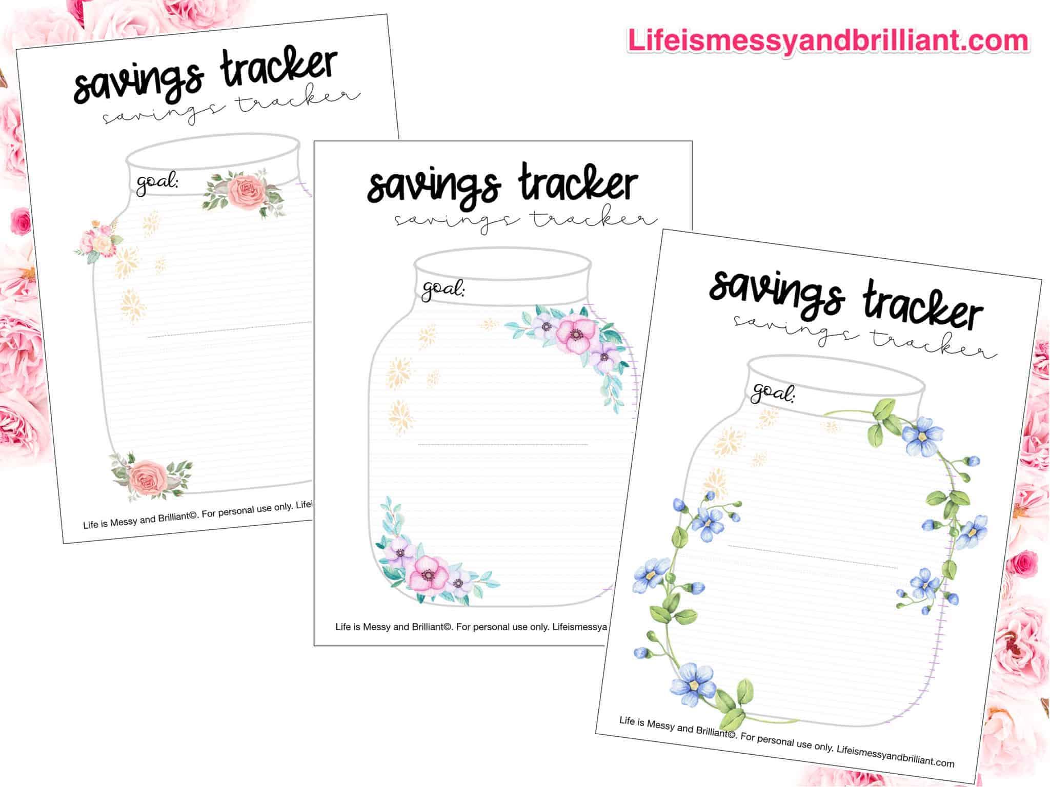 photograph regarding Savings Printable called Cost-free Personal savings Tracker Printable