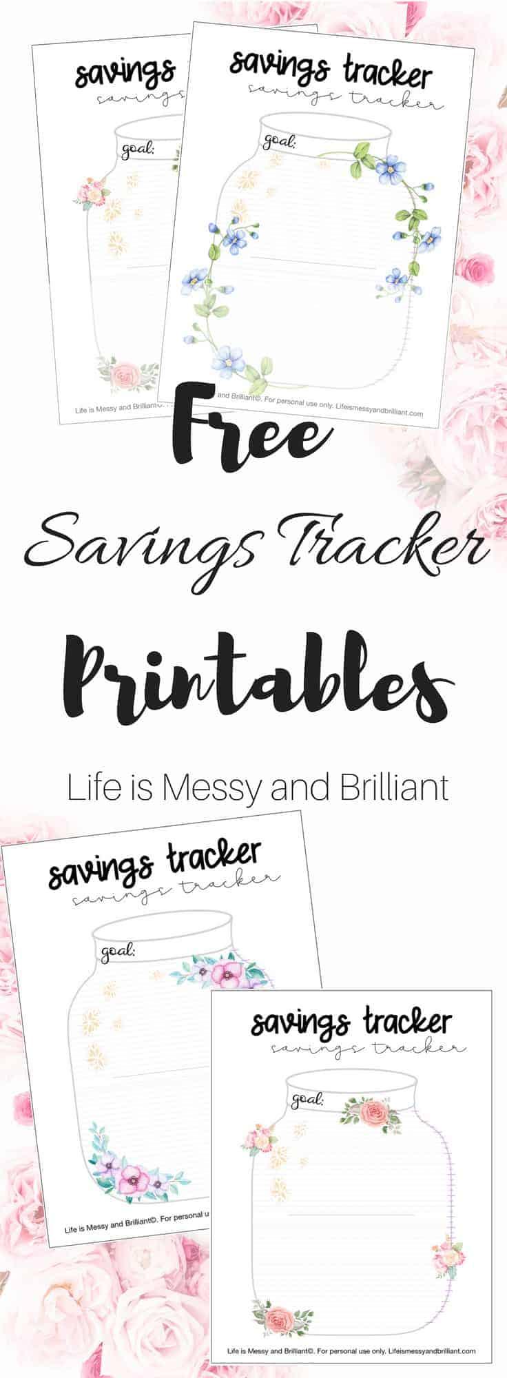 Free Savings Tracker Printable