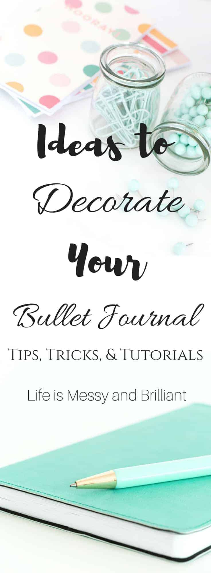 ideas to decorate your bullet journal