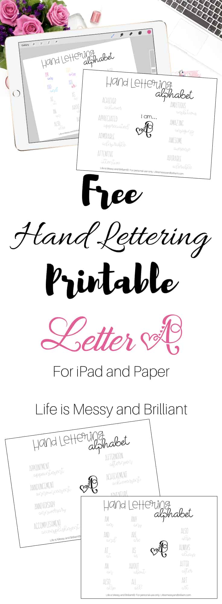Hand Lettering Alphabet Fonts For Beginners Practice