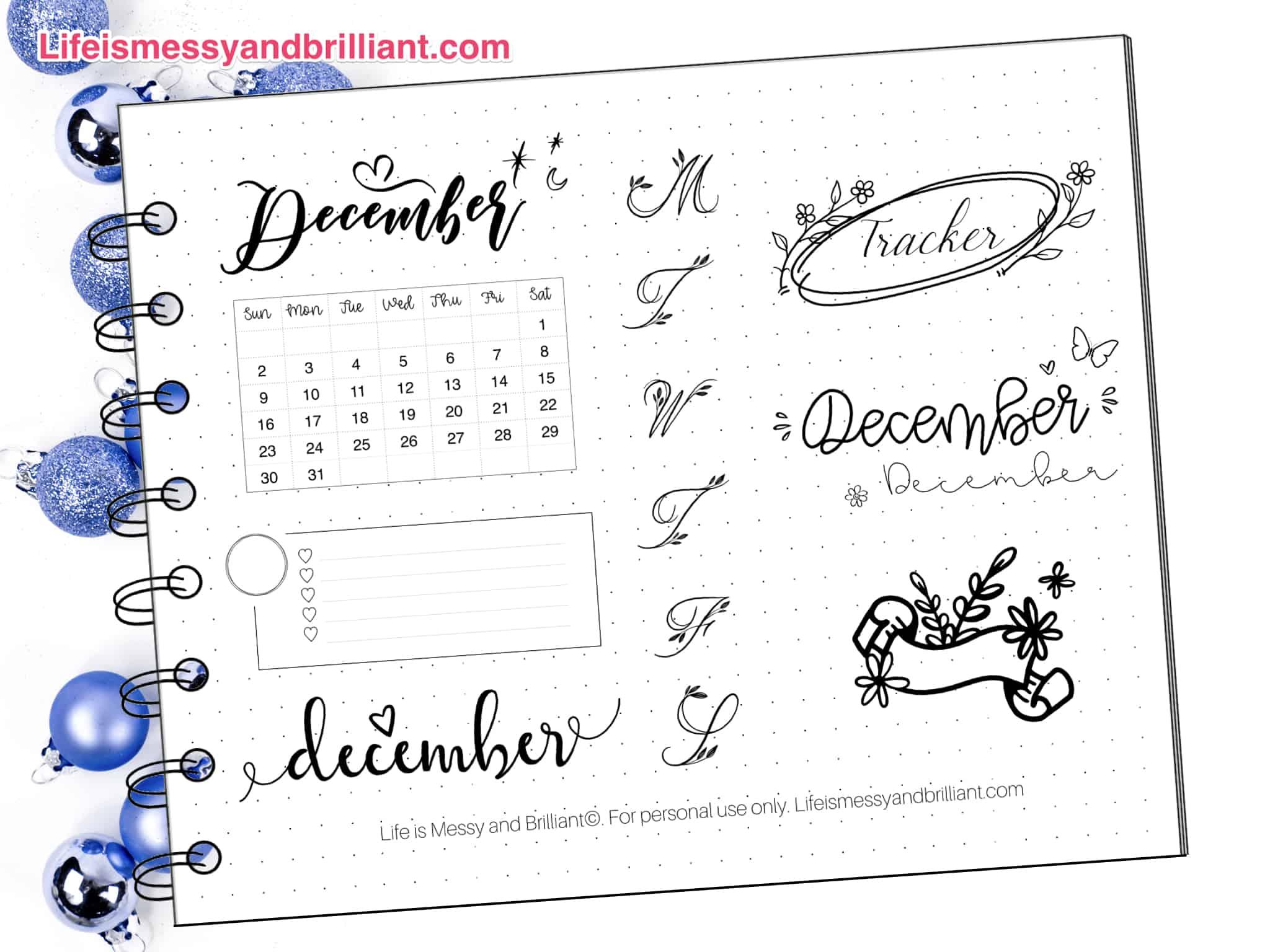 Pretty Blue Digital Instant Download Stickers ECLP Happy Planner Bullet Journal Hanukkah Printable Planner Stickers