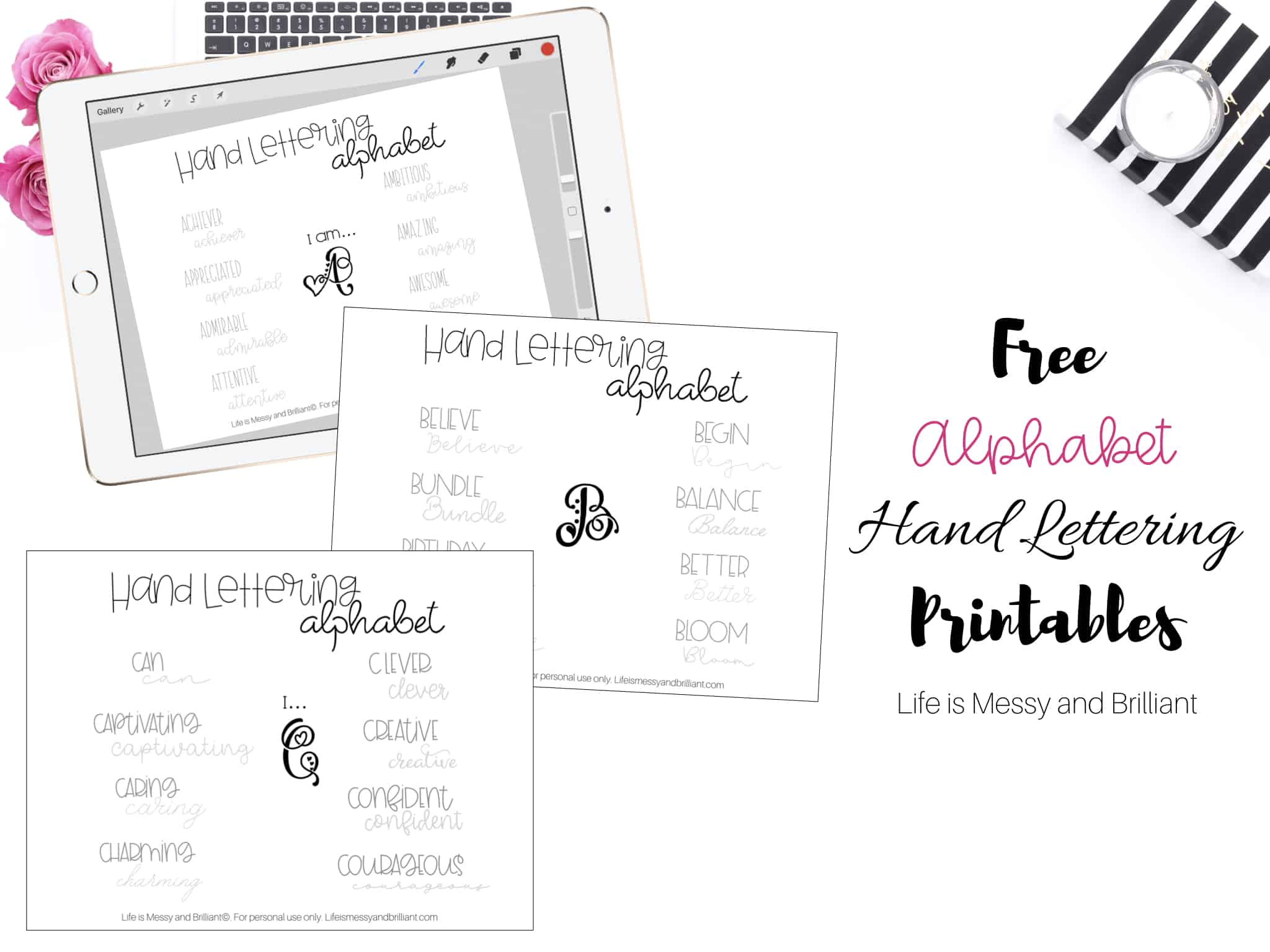 image about Lettering Printable called Totally free Hand Lettering Teach Worksheets