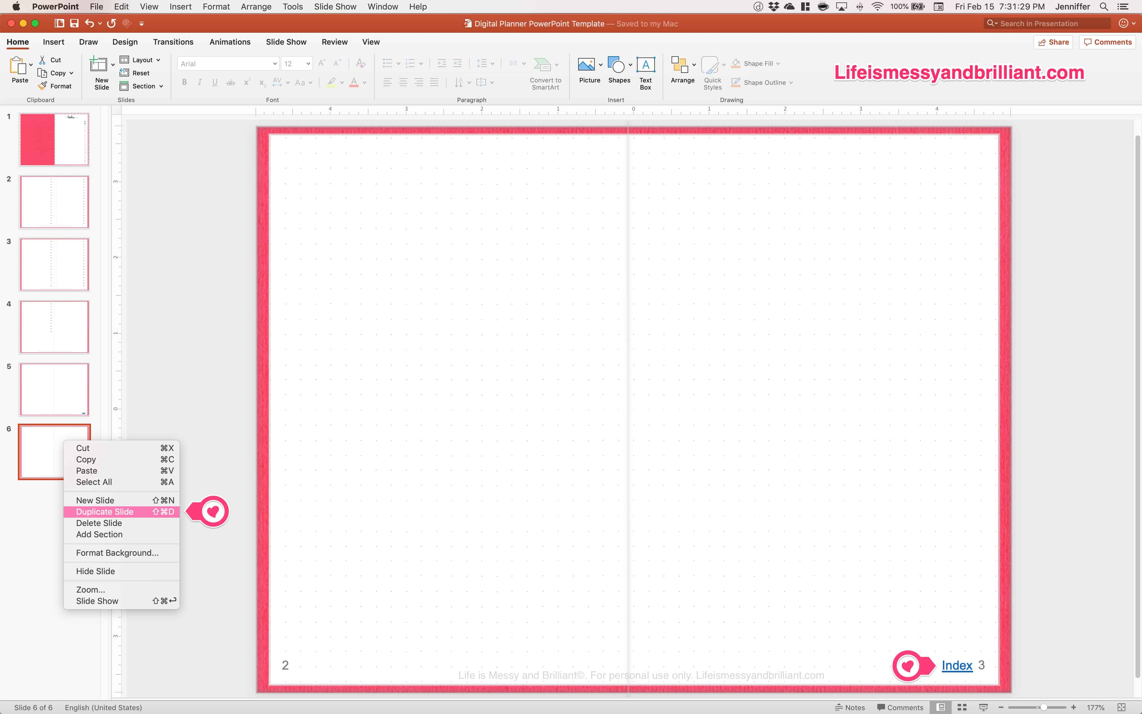 How To Make A Digital Planner In Powerpoint
