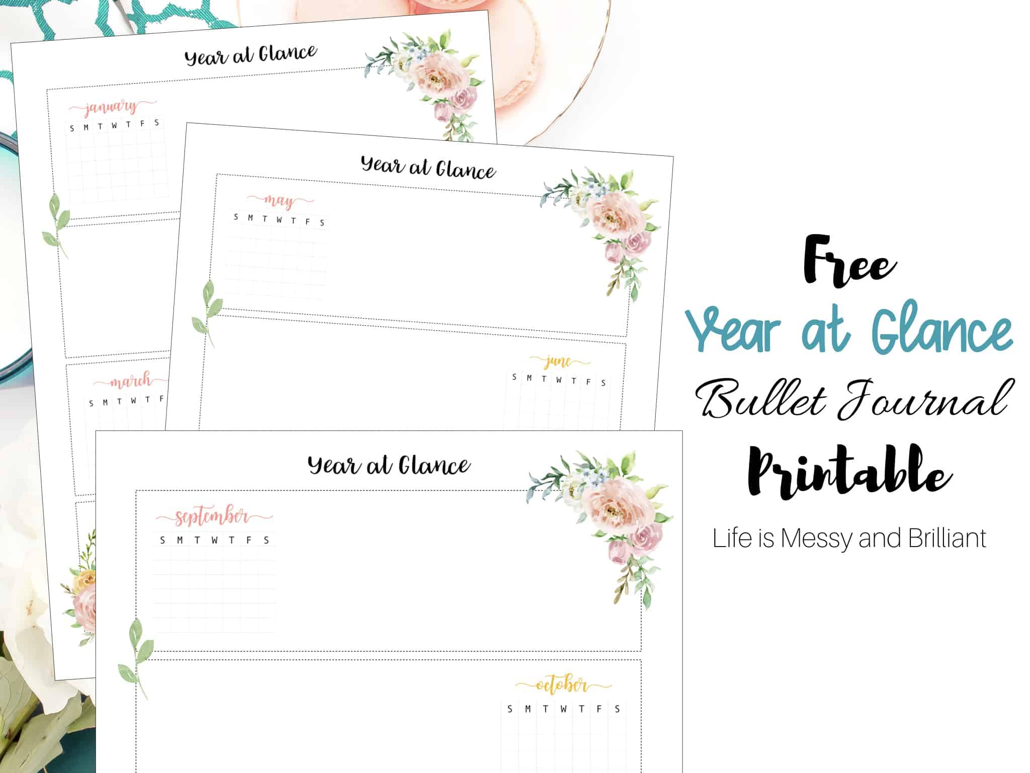 FREE Bullet Journal Weekly Spread Printables