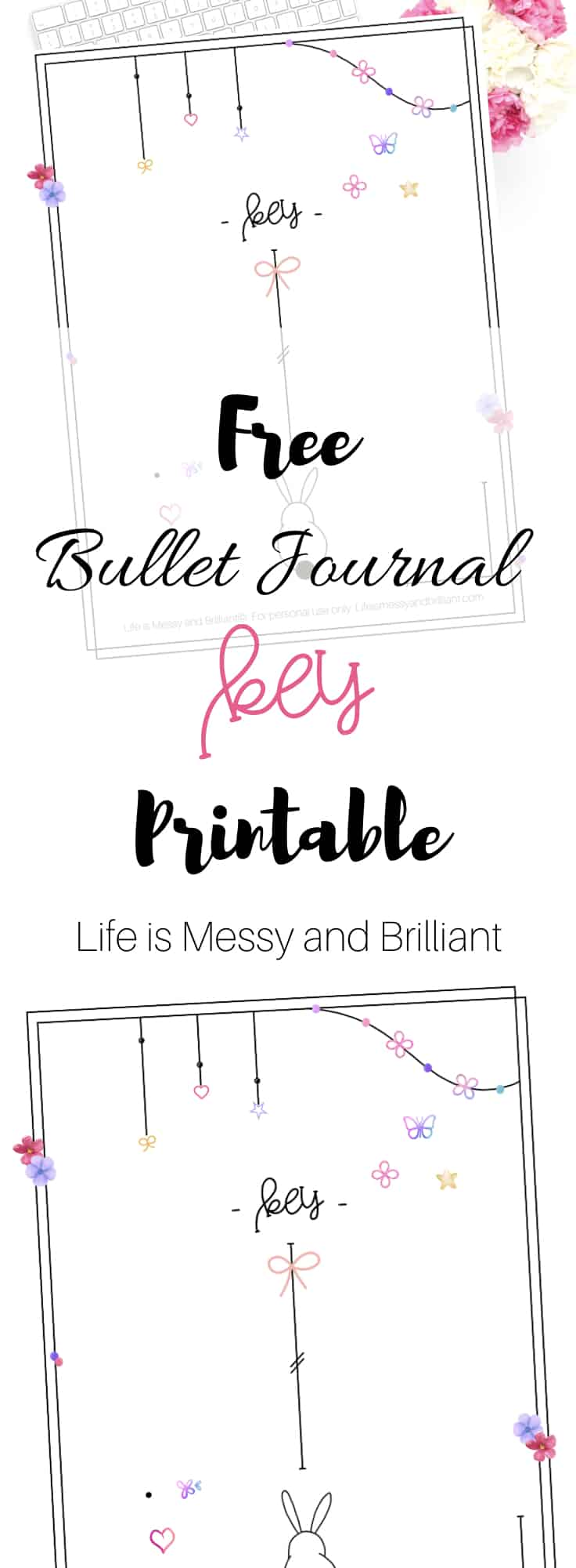 photo relating to Bullet Journal Key Printable called No cost Bullet Magazine Main Printable